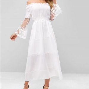 New & Never Worn Tulle & Lace Off-Shoulder Dress